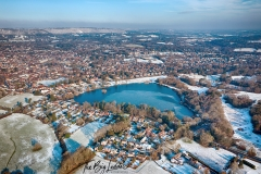 Aerial Of Petersfield in Hampshire By Drone.
