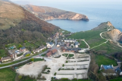 Lulworth Cove in Lockdown