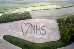 NHS tribute, East Meon, Hampshire