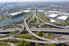 Spaghetti Junction see a fraction of its usual traffic during lockdown