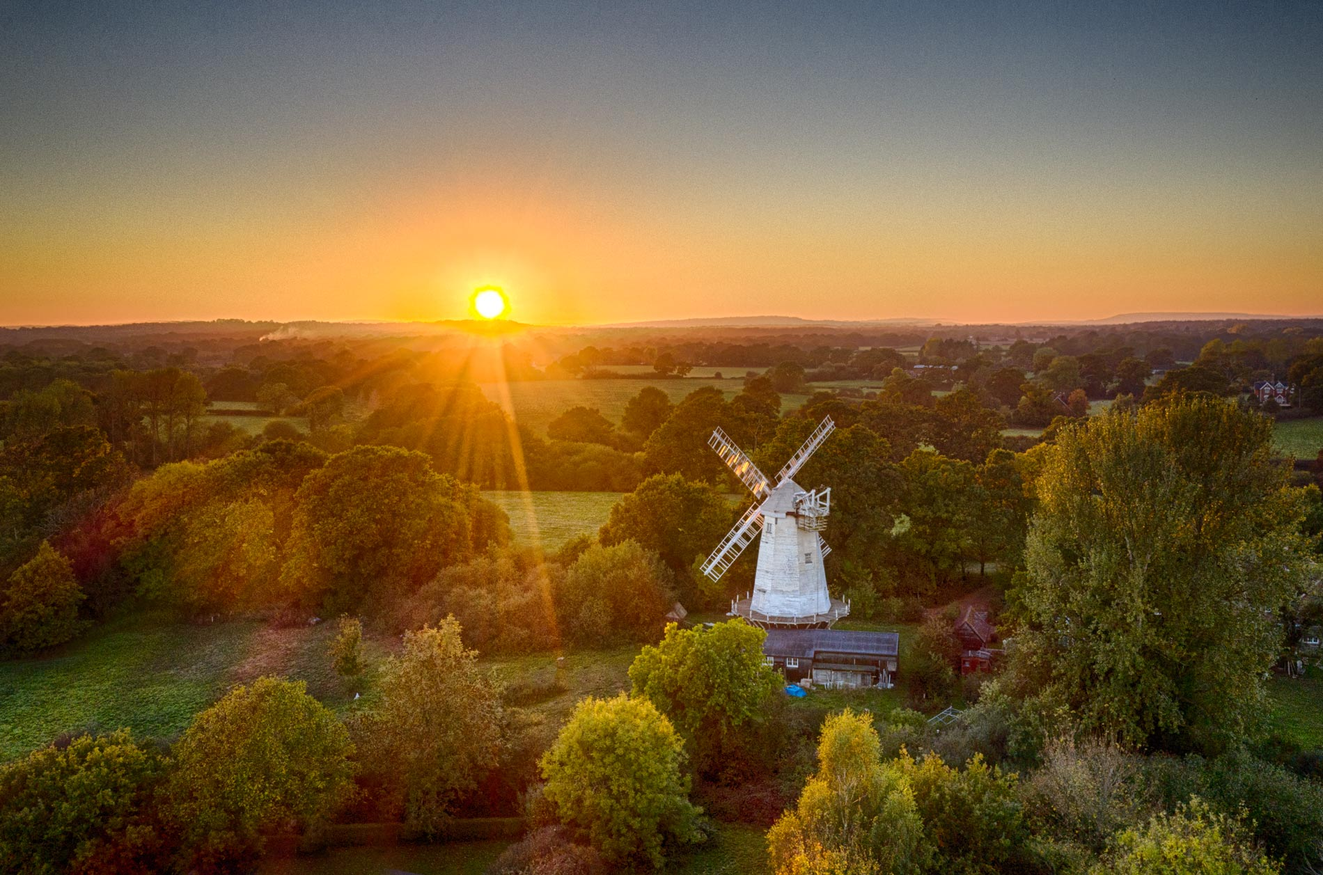 Jonathan Creeks Windmill, Shipley, Sussex