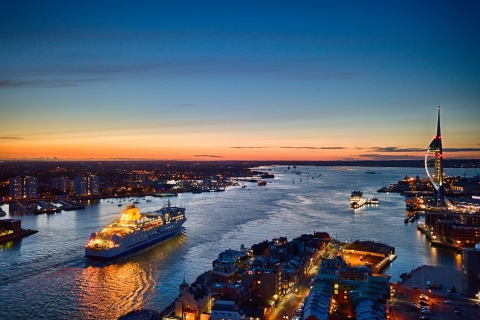 Portsmouth Harbour at sunset