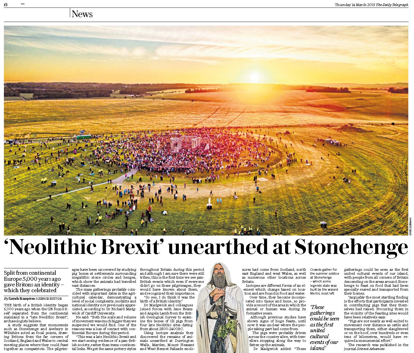 Daily Telegraph, March 2019
