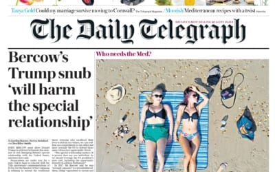 Daily Telegraph Front Page: Behind the Scenes